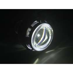 PROIETTORE LENTICOLARE LED ANGEL EYE H1 H7 H4