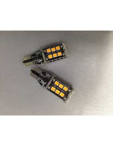 2 LED T10 ARANCIONI WY5W CANBUS