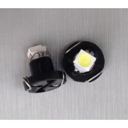 COPPIA LAMPADINA  LED T4,2 Smd Bianco Luci Cruscotti e Strumentazioni 12V DC