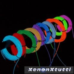 Striscia tubo neon luce filo + accendisigari rosso