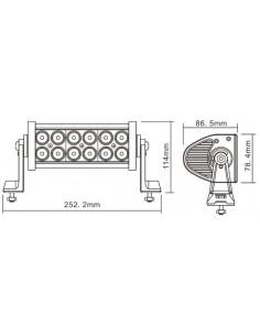 LED WORKING LIGHT 36W 9/32V PROFONDITA O DIFFUSO