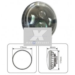 FARO LED JEEP MOTO CUSTOM  6000K BIXENON 3600 lumen  ANGEL BIANCO
