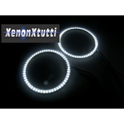 COPPIA ANGEL EYES ANELLO LED DIAMETRO 70MM CON 39 SMD 3528 IN TUBO