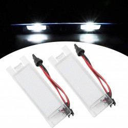 COPPIA PLAFONIERE  A LED LUCI TARGA 18 LED ALFA MITO 6000K NO AVARIA ULTRALUMINOSI