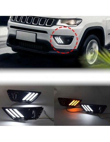 daytime running light with sequential turn light for jeep compass