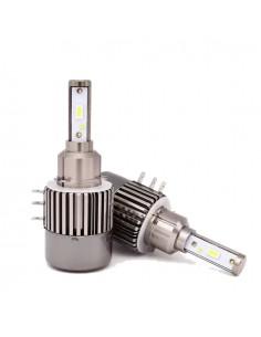 kit led h15 anabbagliante diurna doppia funzione drl and high beam light