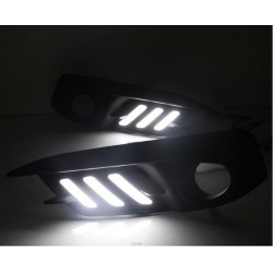 drl white led honda civic led