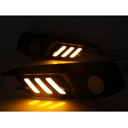 drl led honda civic x turn light sequential