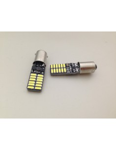 COPPIA BA9S LED 24 SMD 4014 SUPER CANBUS