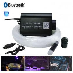 Kit Cielo Stellato Fibra Ottica RGBW LED 16W 300pcs Bluetooth APP per Smartphone android i-phone