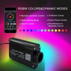 fibra ottica rgb led padiglione auto