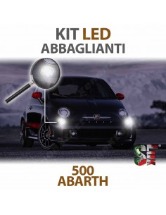 lampade led abbaglianti h7 500 abarth 595 695 canbus  6000k luci bulbi lampadine led