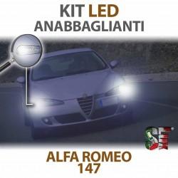 Lampade led anabbaglianti h7 6000k alfa romeo 147 canbus bulbi lampadine illuminazione low beam light headlight