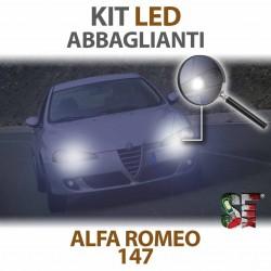 lampade led abbaglianti 6000k alfa romeo 147 canbus illuminazione lampadine bulbi led headlight high beam