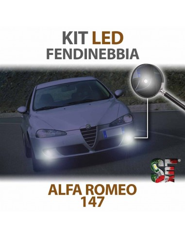 kit led fendinebbia 6000k alfa romeo 147 canbus luci lampadine illuminazione led headlight fog light
