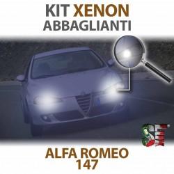 lampade xenon abbaglianti 6000k bianche alfa romeo 147 lampadine luci illuminazione bulbi xenon xenonlight headlight