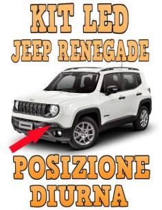 Led Posizione 1156 P21W Jeep Renegade Restyling 2020 position led light lampade lampadine luci