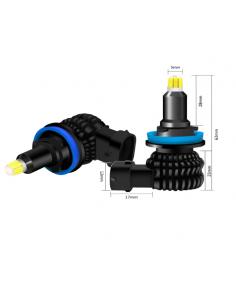 lampade led h11 360 vortice con 48 chip 3d ultracompatto uniforme senza ombre