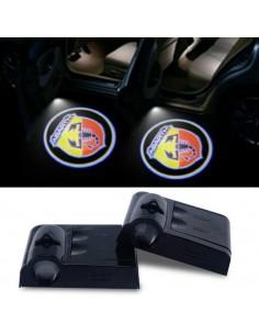 Proiettore Logo LED Abarth per Portiera con Batteria no Fori no Connessioni Plug & Play