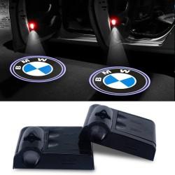 Proiettore Logo LED BMW per Portiera con Batteria no Fori no Connessioni Plug & Play