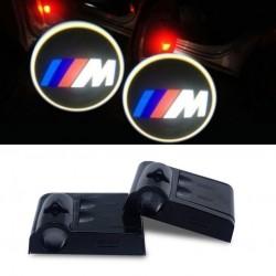 Proiettore Logo LED BMW Serie M per Portiera con Batteria no Fori no Connessioni Plug & Play