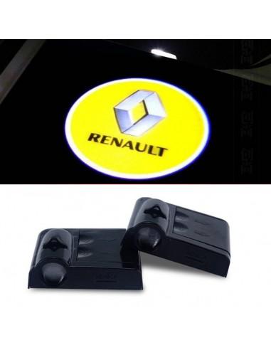 Proiettore Logo LED Renault per Portiera con Batteria no Fori no Connessioni Plug & Play