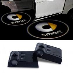 Proiettore Logo LED Smart per Portiera con Batteria no Fori no Connessioni Plug & Play