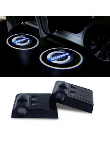Proiettore Logo LED Volvo per Portiera con Batteria no Fori no Connessioni Plug & Play