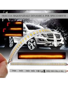Freccia Sequenziale Specchietto Universali Mirror Light Dinamica Strip Arancione