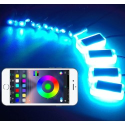 luce ambiate e fibra ottica led con applicazione