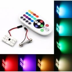 LED RGB  FESTOON  SILURO T10 CANBUS PIATTINA