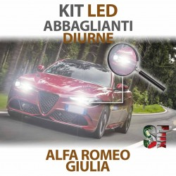 Lampade Led Diurna e Abbaglianti H15 per ALFA ROMEO Giulia (2015 in poi) con tecnologia CANBUS