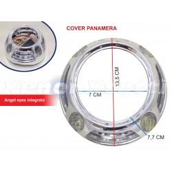 COPPIA COVER PANAMERA BIANCO AMBRA CON ANGEL LED BIXENON PROJECTOR