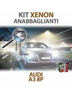 Lampade Xenon Anabbaglianti H7 per AUDI A3 - 8P 8PA (2003 - 2013) con tecnologia CANBUS