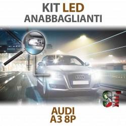 Lampade Led Anabbaglianti H7 per AUDI A3 - 8P 8PA (2003 - 2013) con tecnologia CANBUS