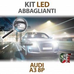 Lampade Led Abbaglianti H7 per AUDI A3 - 8P 8PA (2003 - 2013) con tecnologia CANBUS