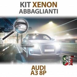 Lampade Xenon Abbaglianti H7 per AUDI A3 - 8P 8PA (2003 - 2013) con tecnologia CANBUS