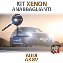 Lampade Xenon Anabbaglianti H7 per AUDI A3 8V (2012 in poi) con tecnologia CANBUS