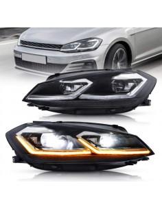 Fari FULL Led Volkswagen Golf 7.5 Luci di Posizione Drl e Anabbaglianti Abbaglianti completo ricambio aftermarket