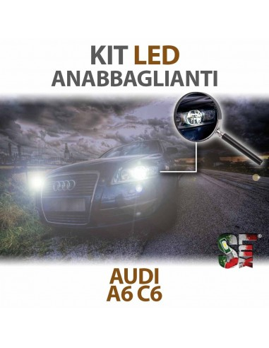 KIT FULL LED ANABBAGLIANTI per AUDI A6 (C6) specifico CANBUS
