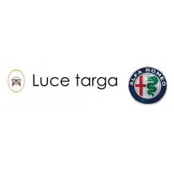 COPPIA PLAFONIERA A LED LUCI TARGA 18 LED ALFA GT 6000K NO AVARIA