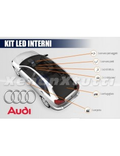 KIT FULL LED INTERNI AUDI Q5 8R CONVERSIONE COMPLETA  CANBUS