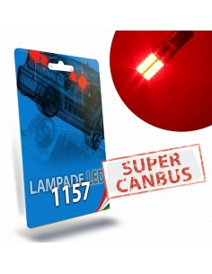 1157 P21/5W BAY15D Led Super Canbus Rosso Stop Posizione STAR Series