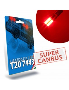T20 7443 W21/5W Led Rossa Stop Posizione Super Canbus STAR Series