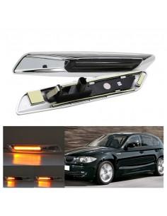 Bmw E60 E61 E82 E88 E90 E91 E92 E93 Frecce Laterali LED Dinamiche Sequenziali Silver gemma parafango