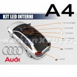 KIT FULL LED INTERNI PER AUDI A4 B6 B7 AVANT  CON PACCHETTO LUCI