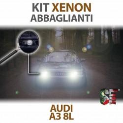 Lampade Xenon Abbaglianti H7 per AUDI A3 8L (1996 - 2003) con tecnologia CANBUS