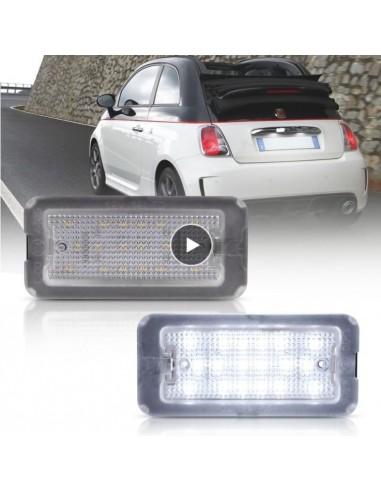 Lampadine luci targa led fiat 500 canbus no error license plate