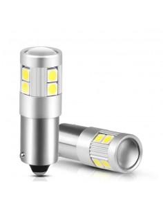 COPPIA BA9S LED 9 SMD 3030 SUPER CANBUS