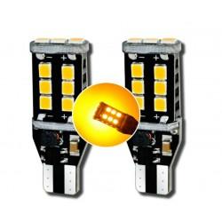 Lampade 2 LED T15 Arancioni WY16W CANBUS